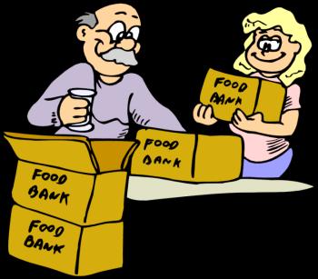 Volunteering clipart food pantry. Bank kid clipartix