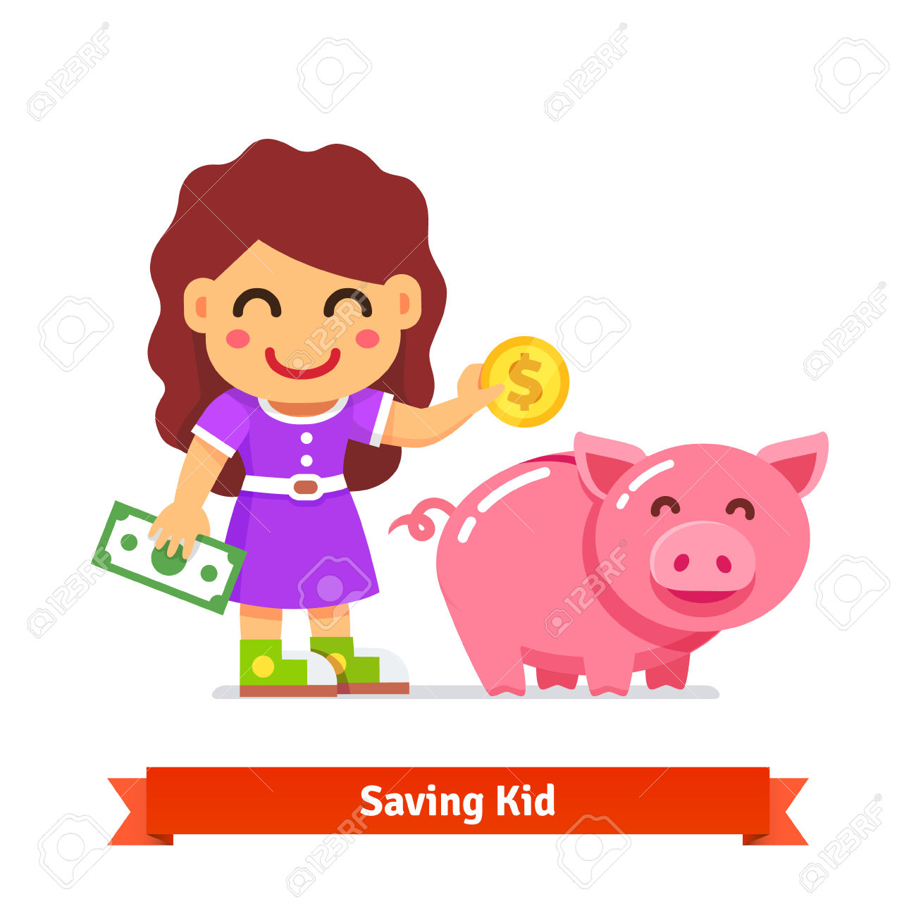 Bank clipart kid.  collection of kids