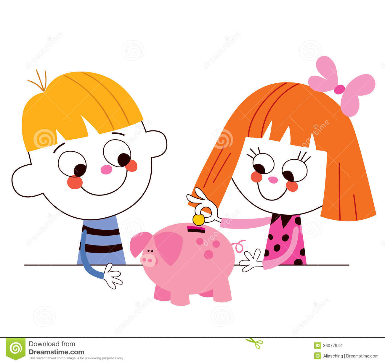 collection of boy. Bank clipart kid