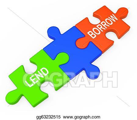 Stock illustration lend borrow. Bank clipart lender
