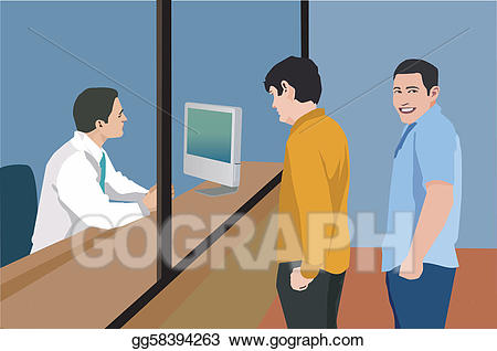 Stock illustration men standing. Bank clipart male