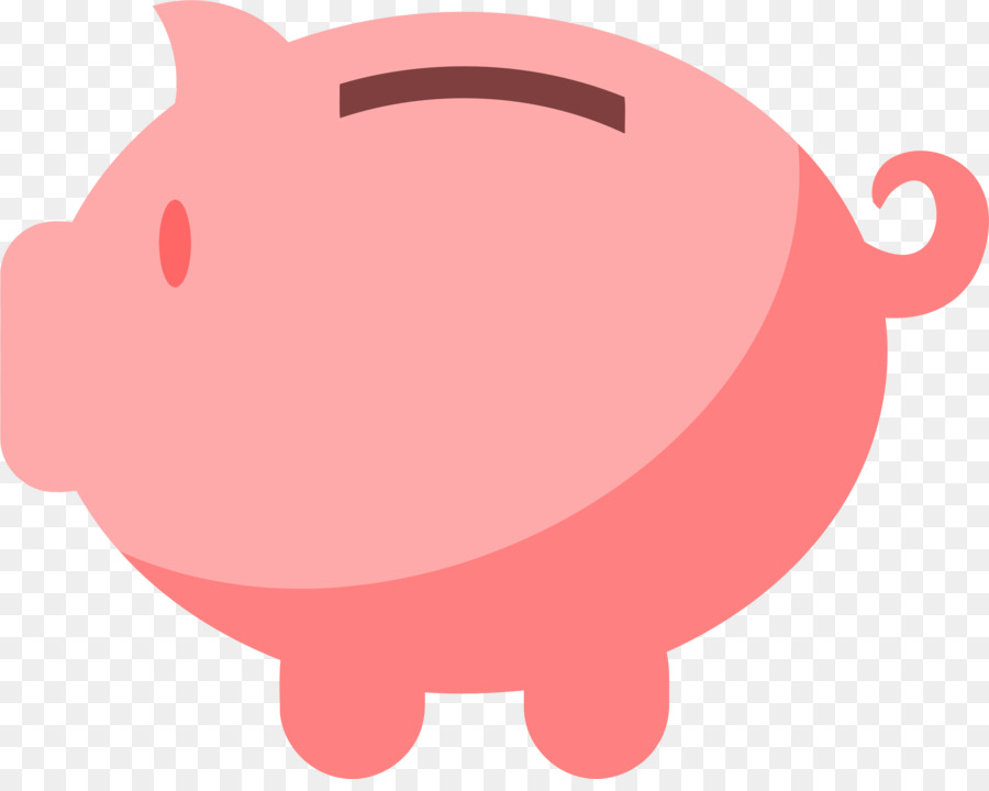 Piggy red transparent clip. Bank clipart pig