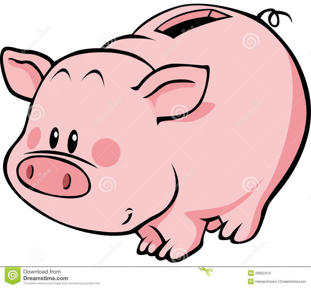 Cartoon piggy . Bank clipart pig