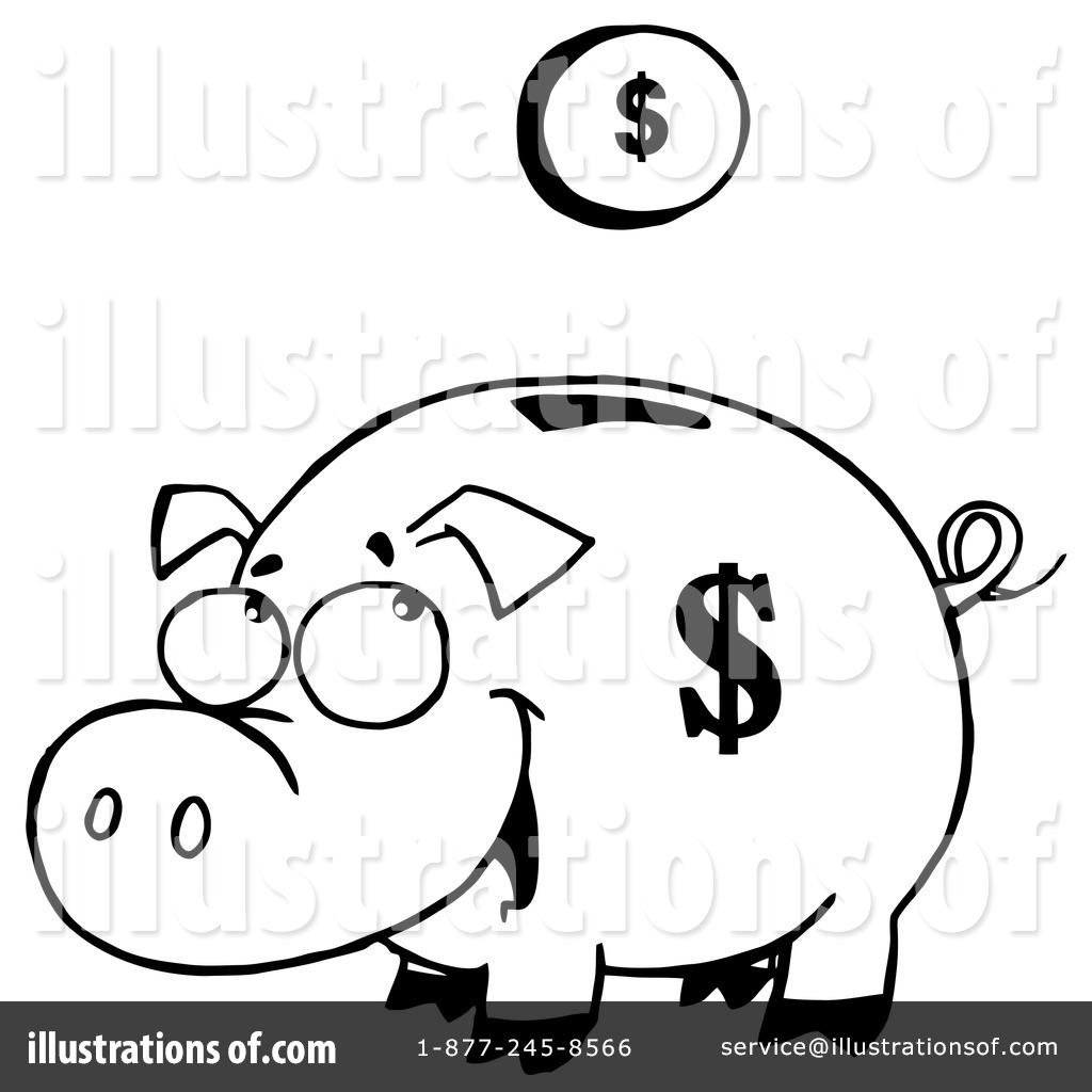 Bank clipart pig. Piggy illustration by hit