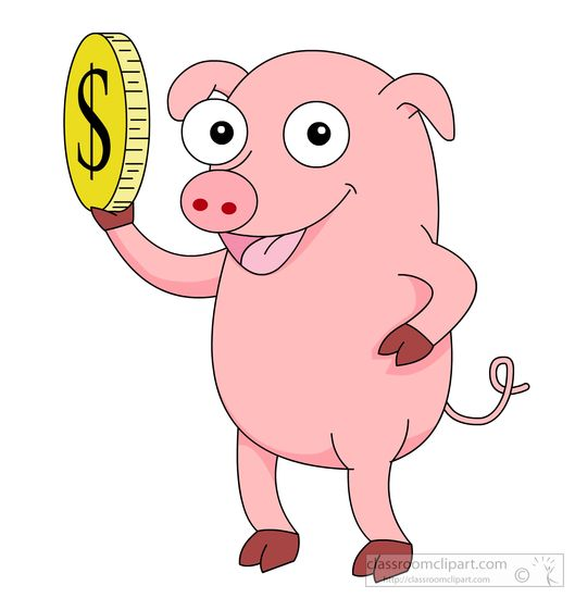 Search results for clip. Bank clipart pig