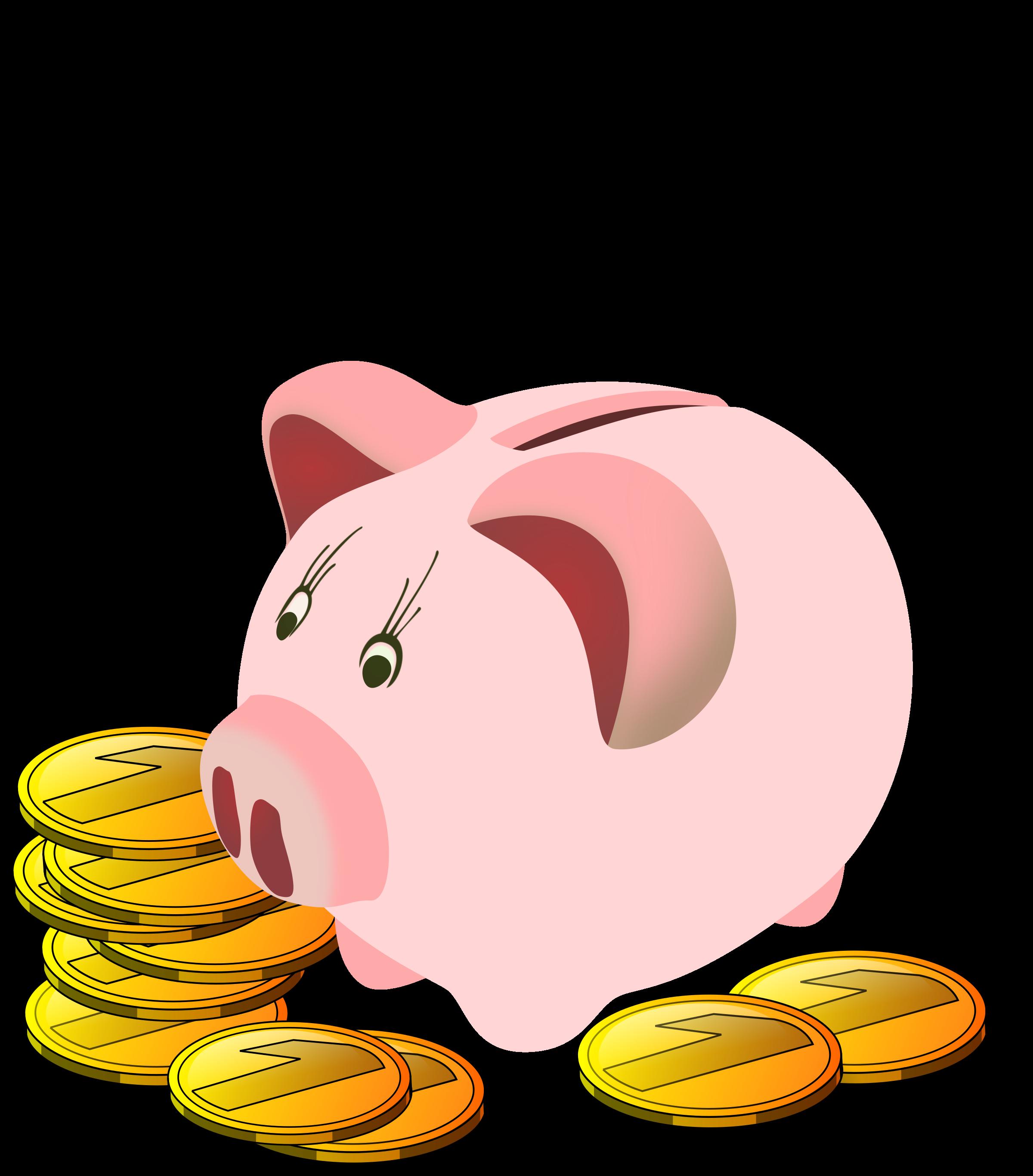 Piggy bank big image. Clipart money pig