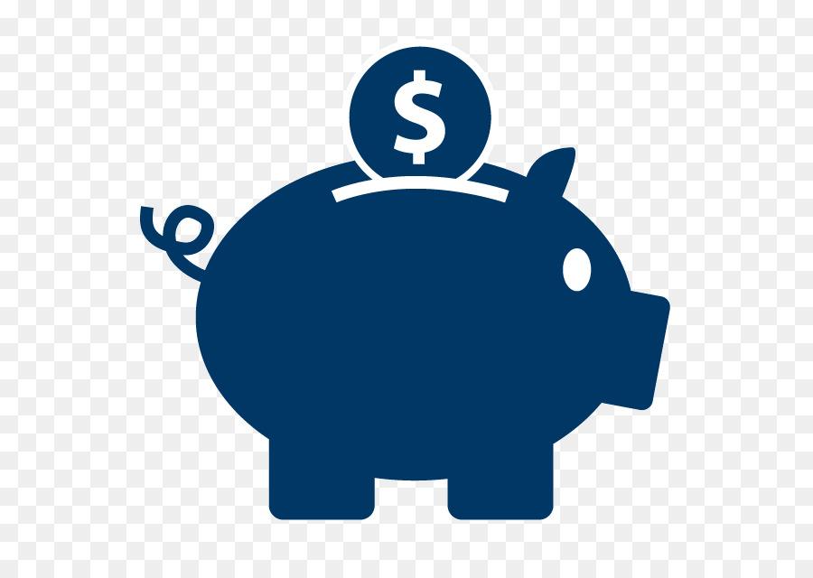 Cartoon blue font transparent. Bank clipart savings bank