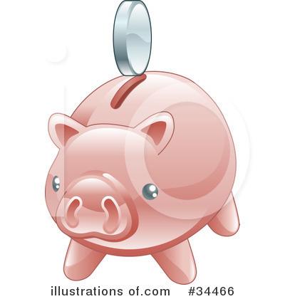 Bank clipart savings bank. Piggy illustration by atstockillustration