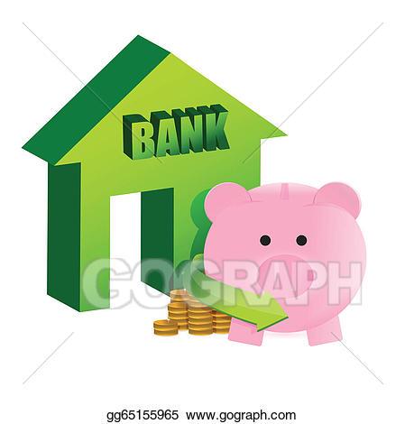 Bank clipart savings bank. Vector art on the