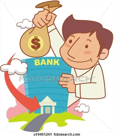 Account letters. Bank clipart savings bank