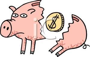 Bank clipart school.  d broken piggy