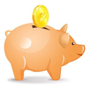 collection of savings. Bank clipart school