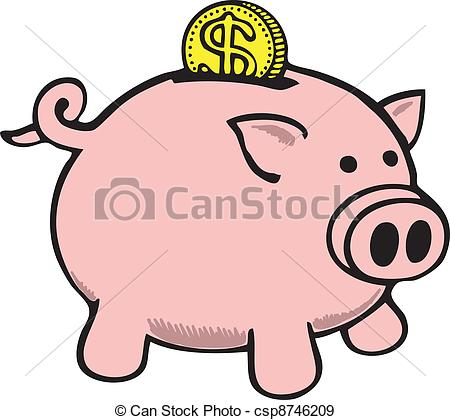 Piggy drawing at getdrawings. Bank clipart sketch
