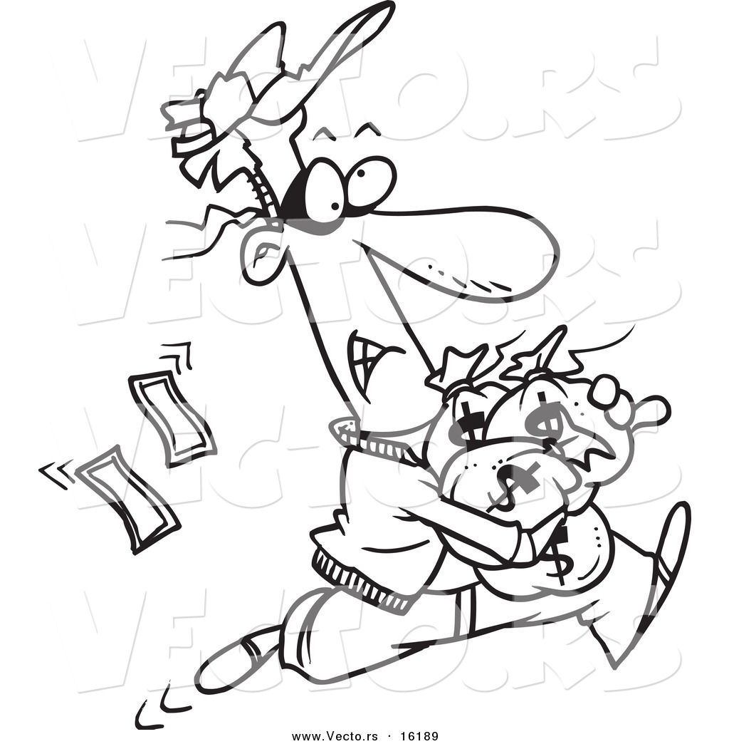 Drawing for money at. Bank clipart sketch