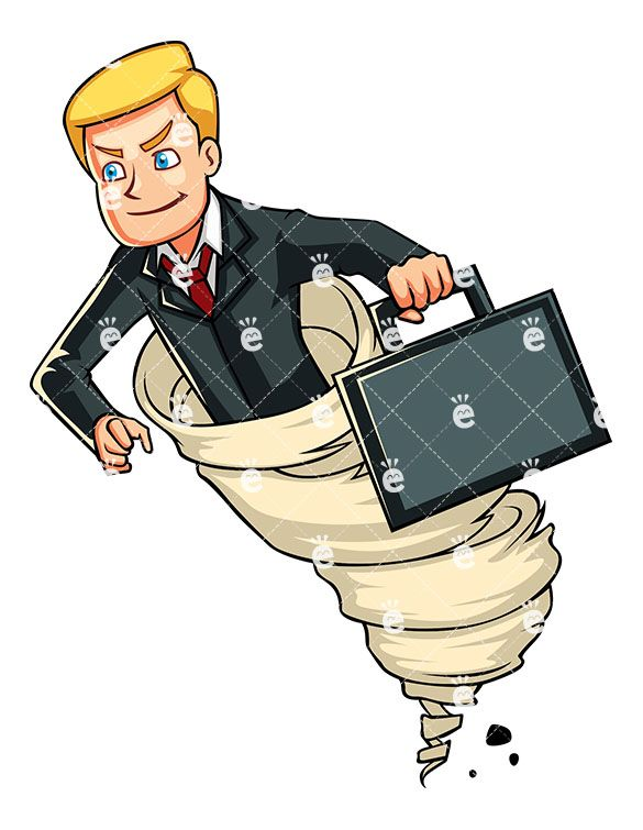 Banker clipart accountant. A determined businessman riding