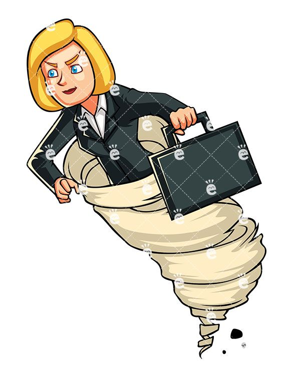 A focused businesswoman riding. Banker clipart accountant