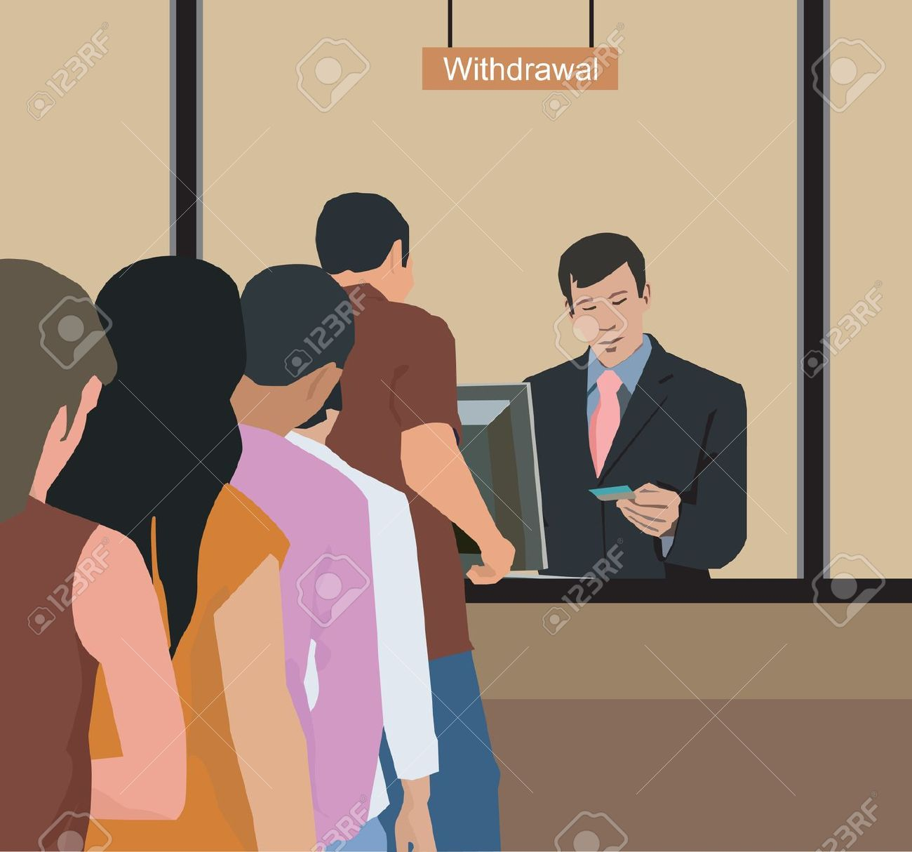 Cashier clipart bank employee. Male teller white