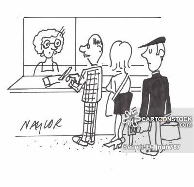 Banker clipart bank counter. Queues cartoons and comics