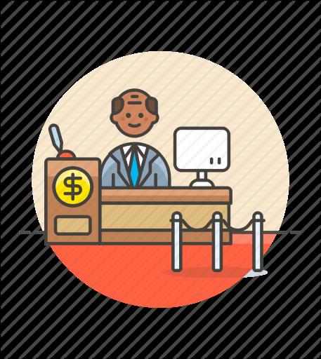 Banker clipart bank counter.  money by webalys