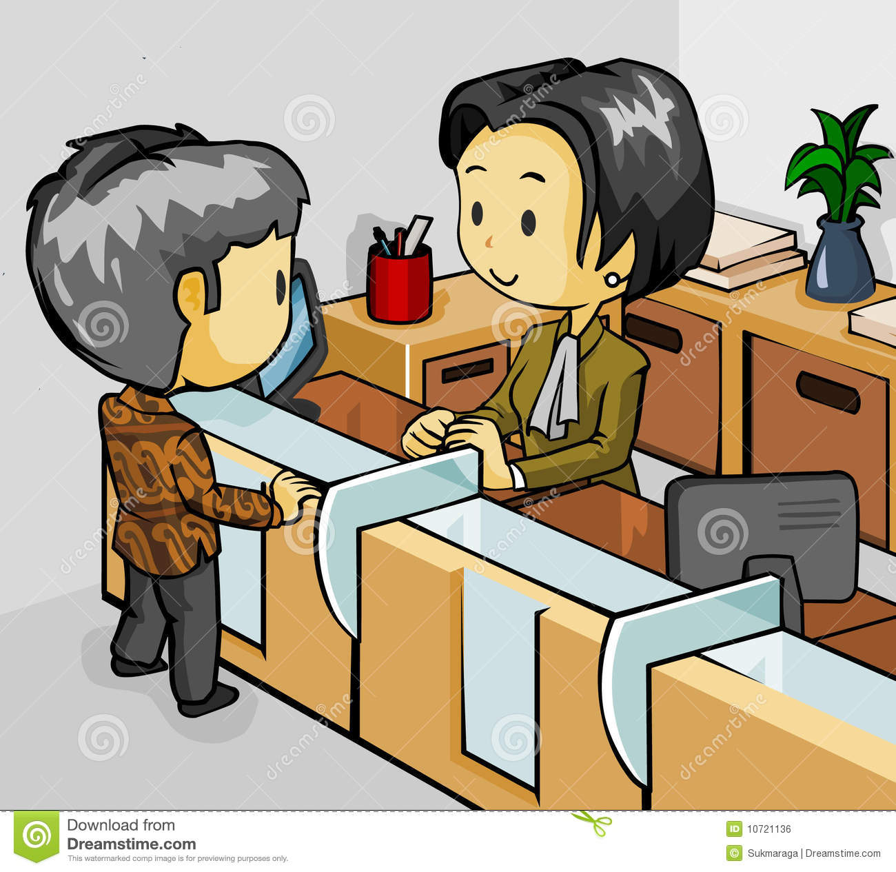 Teller station . Cashier clipart bank employee