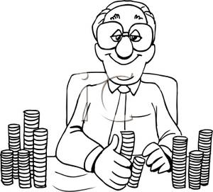 Banker clipart black and white. A image of royalty