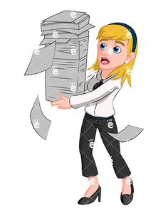 Business woman traveling vector. Banker clipart female
