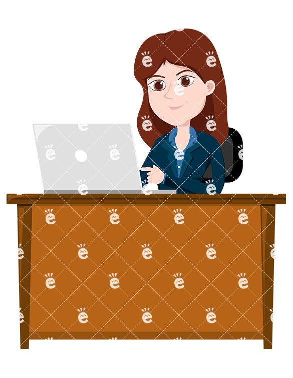 A female professional using. Calm clipart calm woman