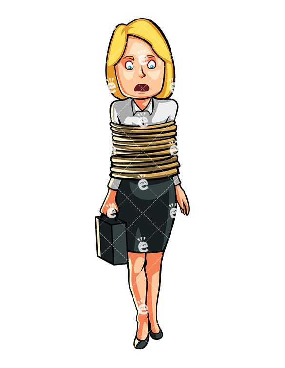 A woman with tight. Banker clipart female