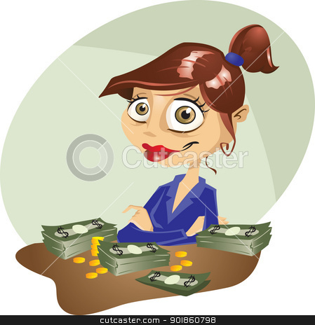 Women pencil and in. Banker clipart female