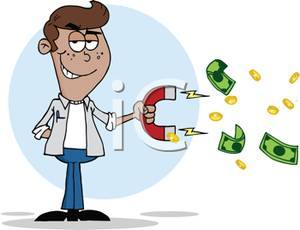 A man collecting funds. Boss clipart greedy