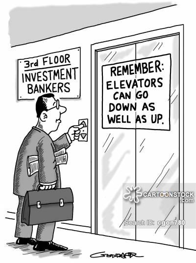 Bank cartoons and comics. Banker clipart investment banker