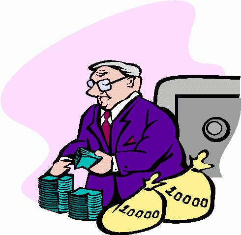 Letters panda free images. Banker clipart money
