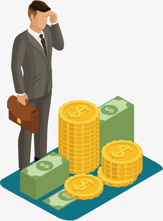 Banker clipart money. Earn png vectors psd