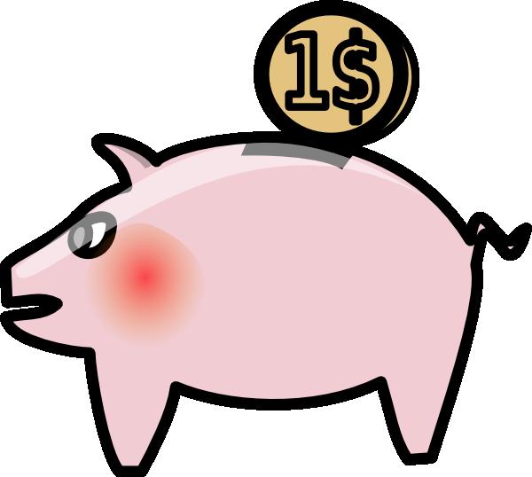 Money clipart banking. Empty piggy bank panda