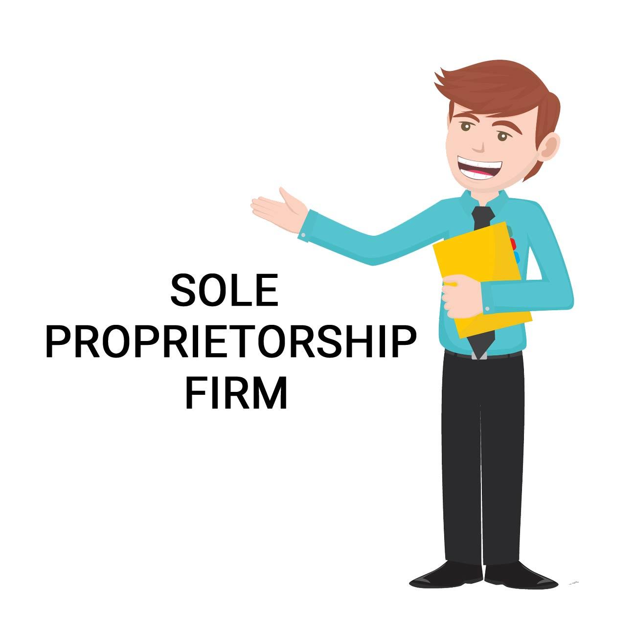 Vyapar formations firm register. Banker clipart sole proprietorship