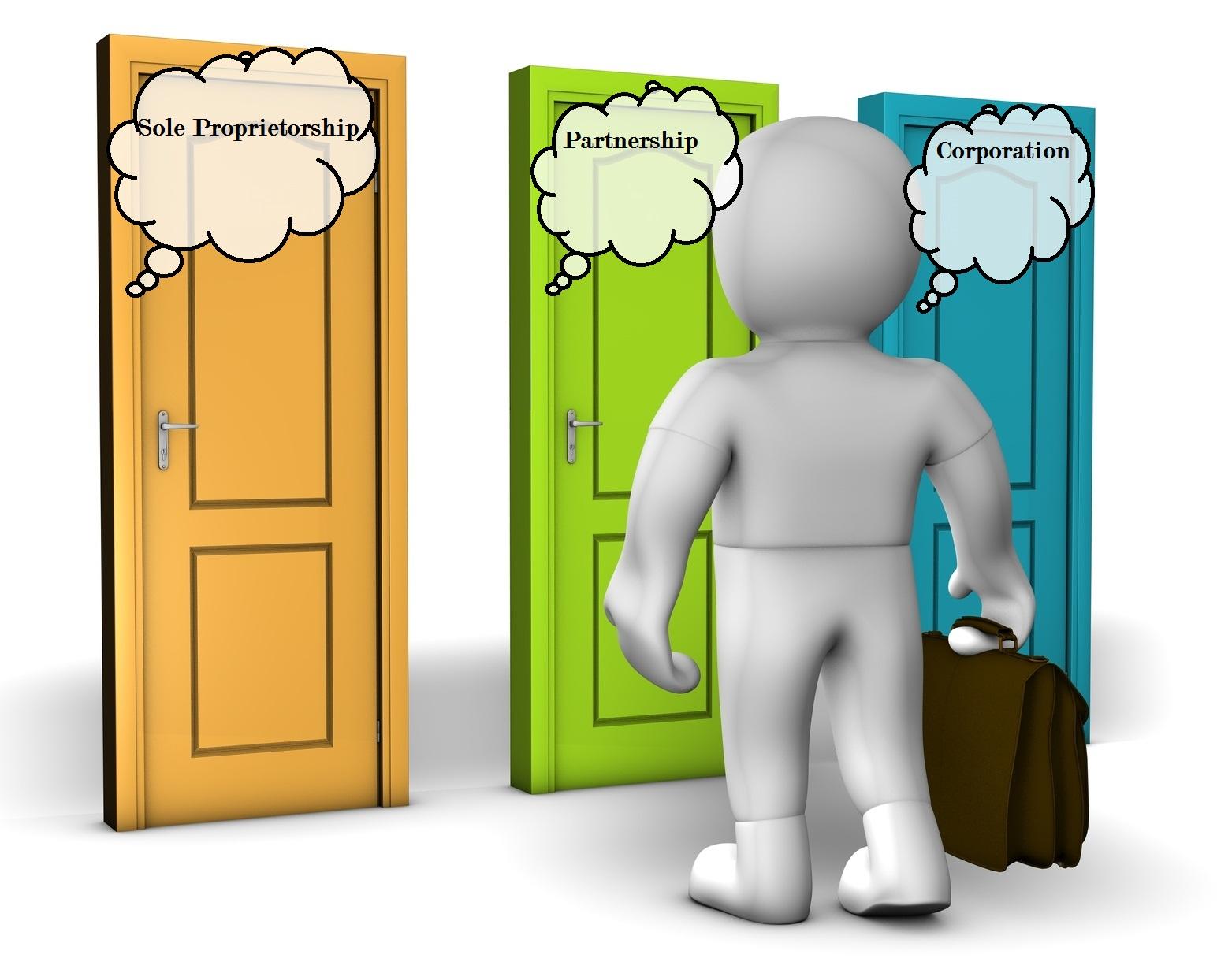 Explanation of proprietorships part. Banker clipart sole proprietorship