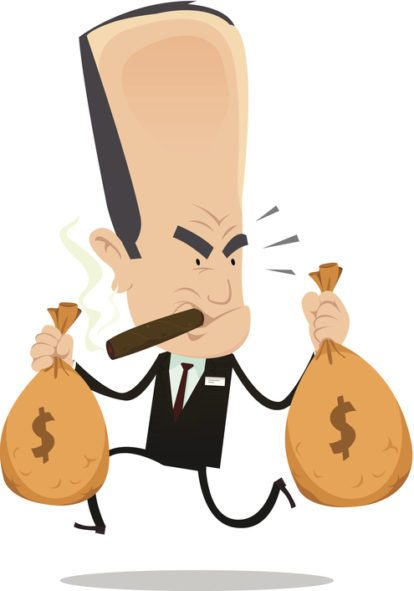 Banker clipart stingy person. Are banks evil buddhamoney