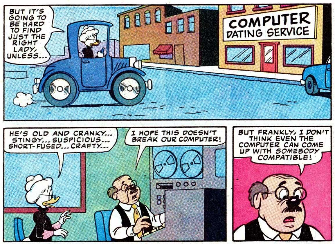 Duck comics revue matchmaker. Banker clipart stingy person