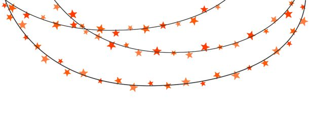 Banner clip art. Solid color orange bunting
