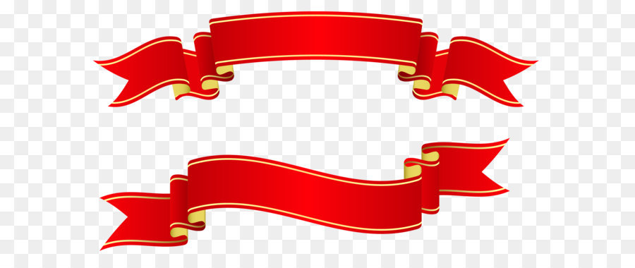 Ribbon paper red banners. Banner clip art