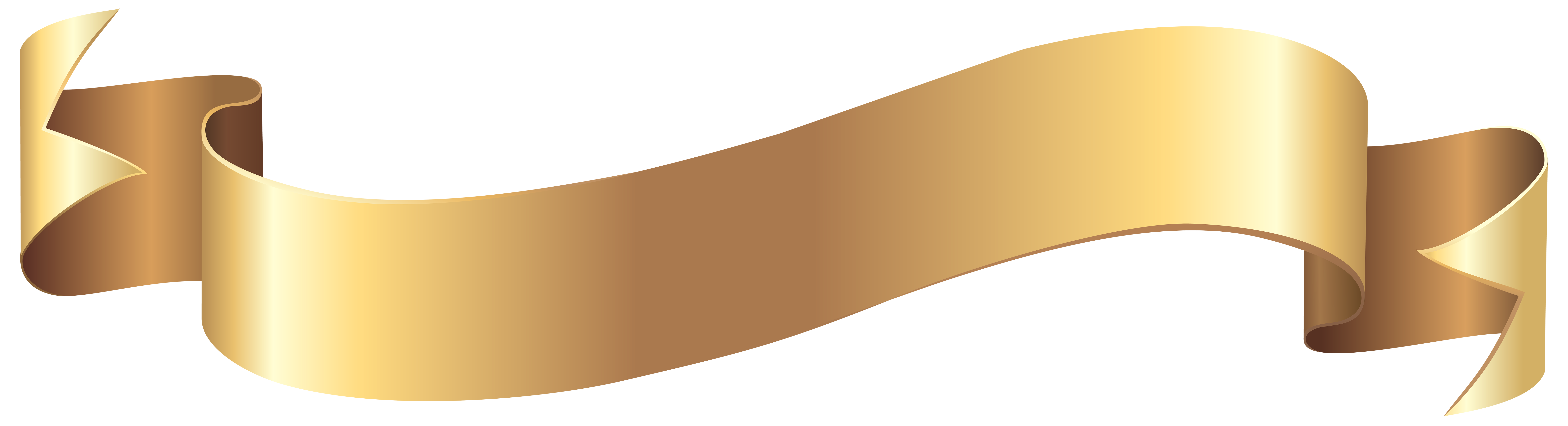 Clipart banner yellow ribbon. Gold png clip art
