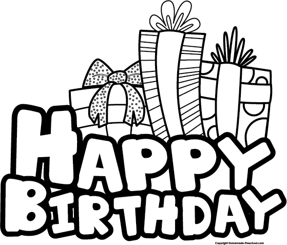 Happy birthday clipart clipartxtras. Banner clip art black and white