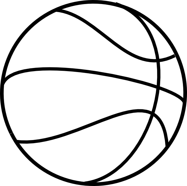 Printable free basketball coloring. Oreo clipart outline