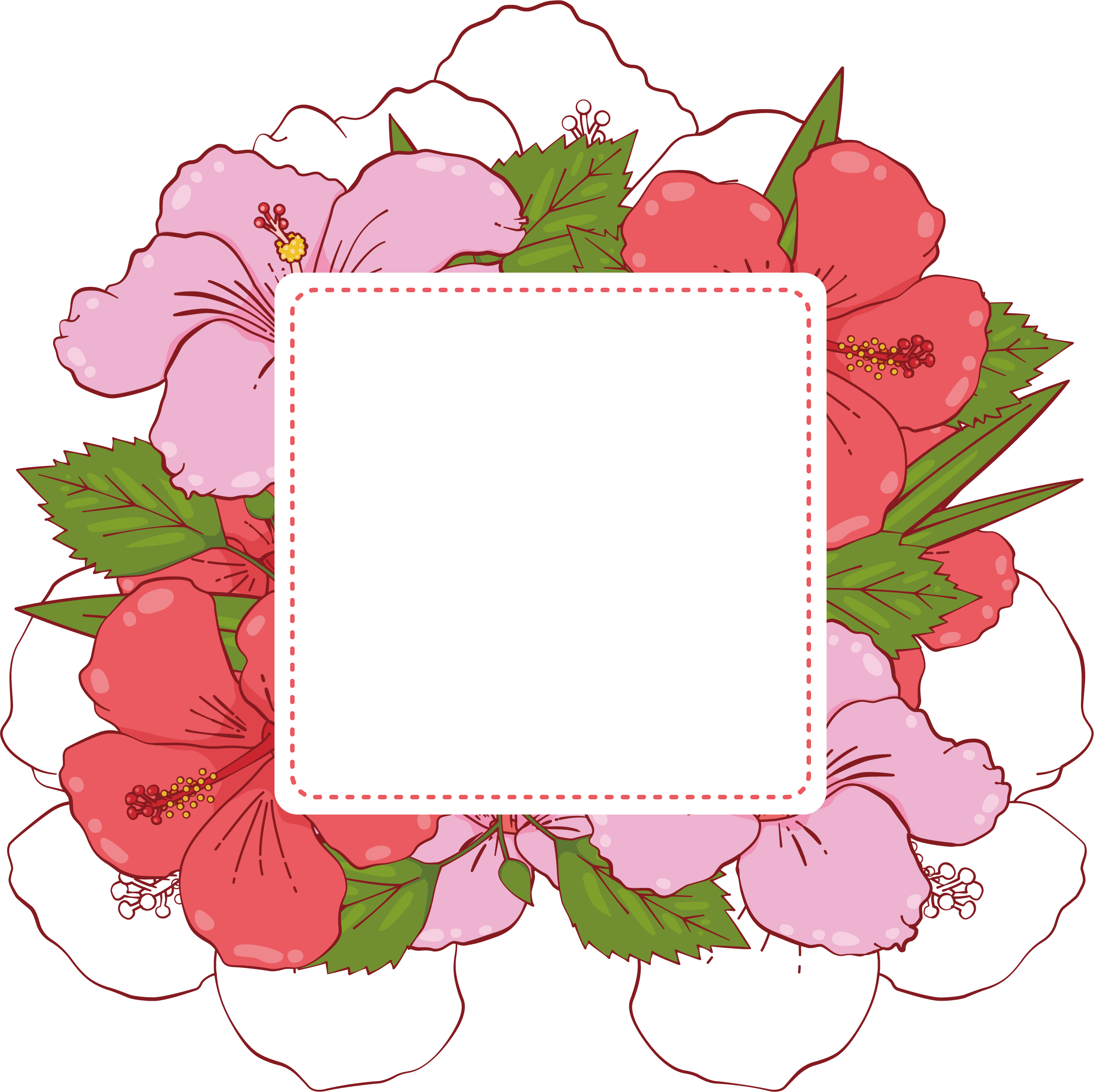 Adobe illustrator pink summer. Banner clip art flower