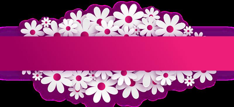 Banner clip art flower. Clipart pngline pin