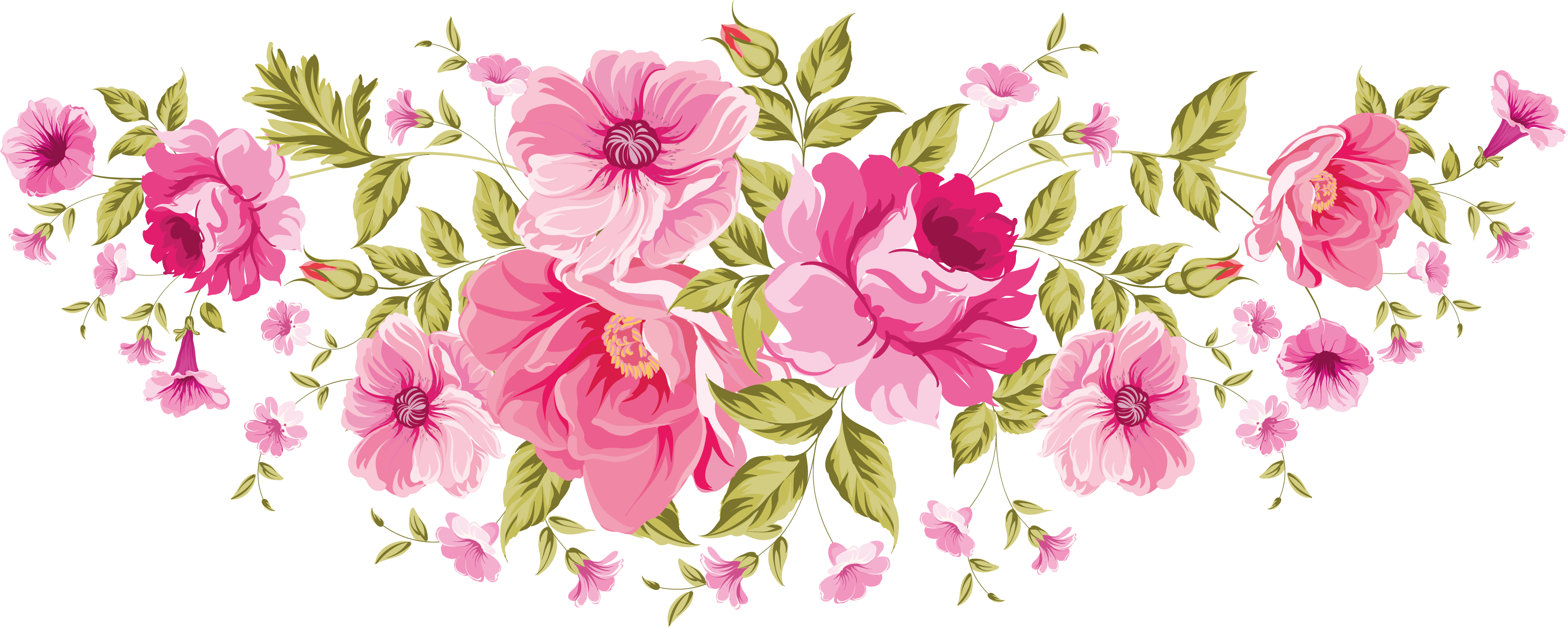 Banner clip art flower. Flowers png xxl decoupage