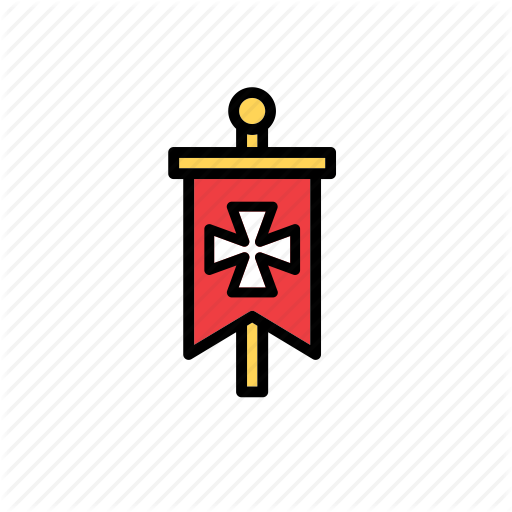 Iconfinder by beguima cross. Banner clip art medieval