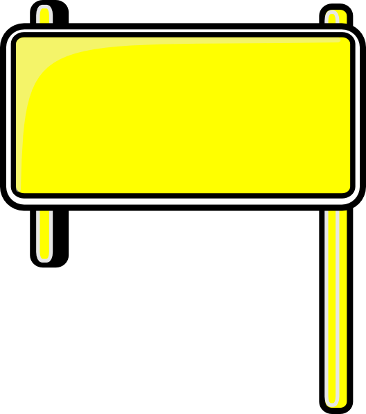 Highway sign blank at. Banner clip art plain