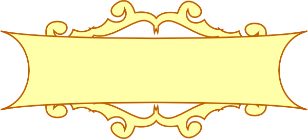 Banner clip art plain. Western scroll clipart panda