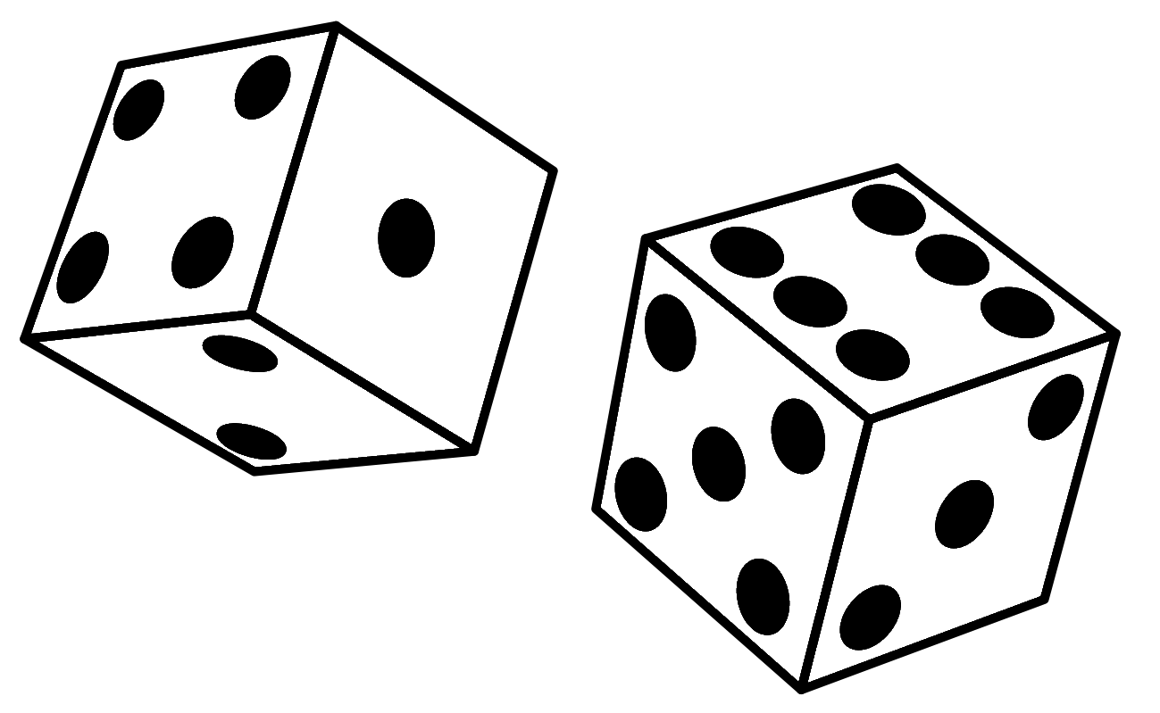 Plain pencil and in. Gaming clipart roll dice